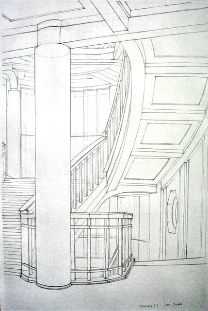 рисунок интерьера: